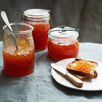 Herb-scented marmalade