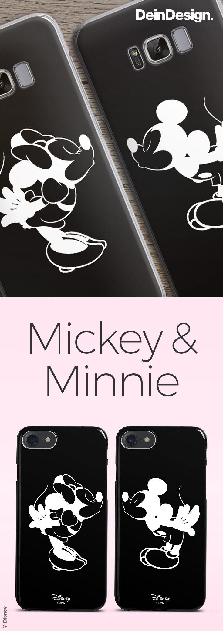 Entdecke unseren süßen Partner Handyhüllen! Unsere Empfehlung: Kissing Mickey & Minnie! // by DeinDesign.