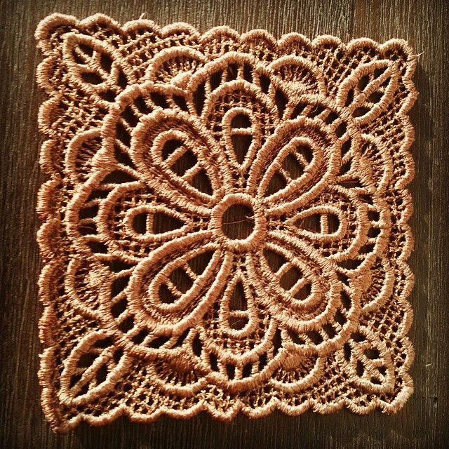 Embroidered doily by JennyJeshko. Suitable under wine glass.  #jennyjeshko #handmade #homedecor #embroidery #wine