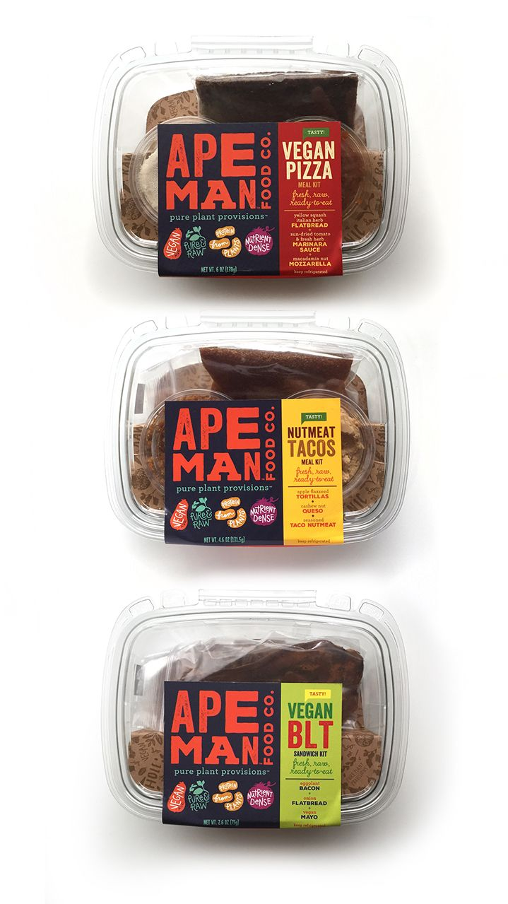 """Ape Man Foods makes delicious meal kits, spreads and """"breads"""" from 100% plant-based ingredients that are raw, paleo-friendly, vegan, nutritious and tasty."""