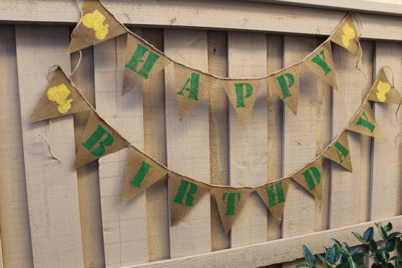 John Deere themed birthday banner