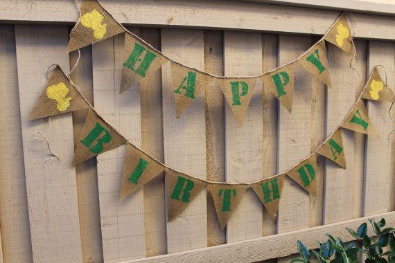 John Deere themed birthday banner by ButtonstoBurlap on Etsy, $22.00