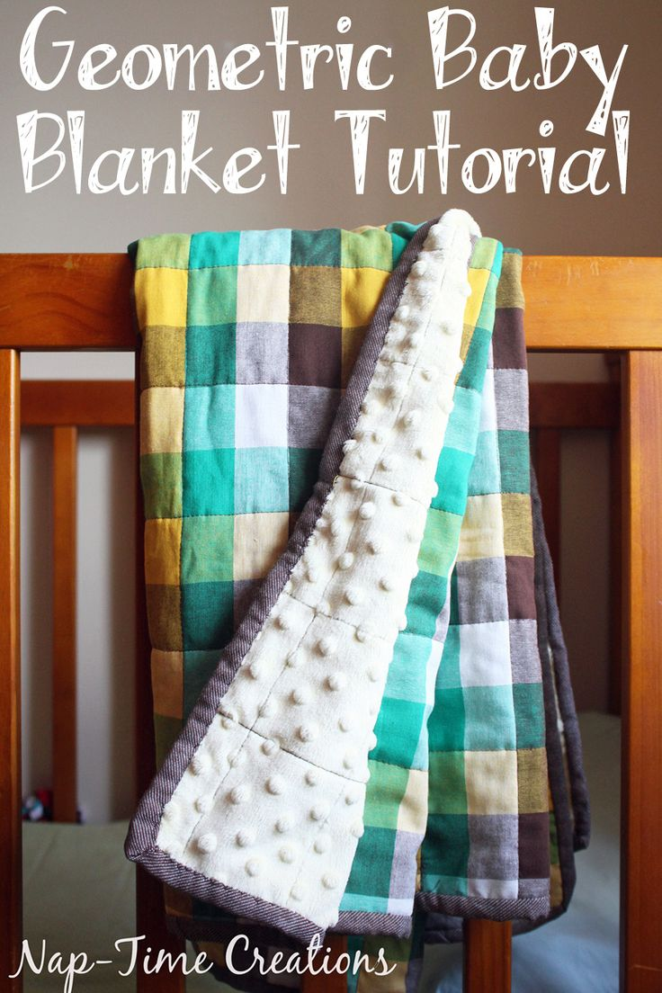 geometic fabric baby blanket tutorial from Nap-Time Creations