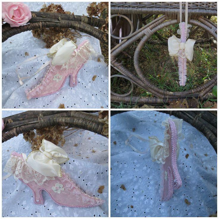 Королевская туфелька-интерьерное украшение,подвеска в стиле а-ля Мария Антуанетта(17х12см)