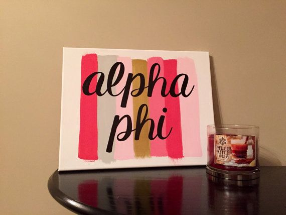 Paint Stroke Sorority Canvas: Alpha Phi // Alpha Phi Canvas