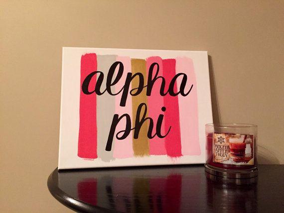 Paint Stroke Sorority Canvas: Alpha Phi // Alpha Phi Canvas