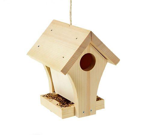 bastel kistl mit einem vogelhaus zum selberbauen stabiles futterh uschen f r v gel jetzt bei. Black Bedroom Furniture Sets. Home Design Ideas
