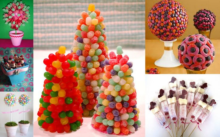 Gummy trees & Candy Cake Edible arrangements