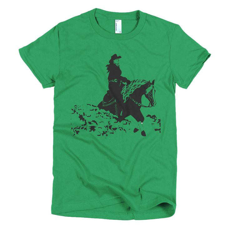 Reining horse Cowgirl Short sleeve women's t-shirt