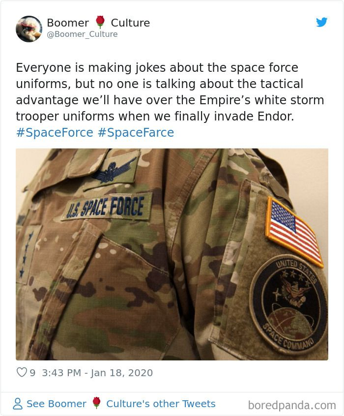 The Us Space Force Reveals Its New Camouflage Uniform People Offer More Suitable Alternatives Camouflage Uniform Mocking Uniform