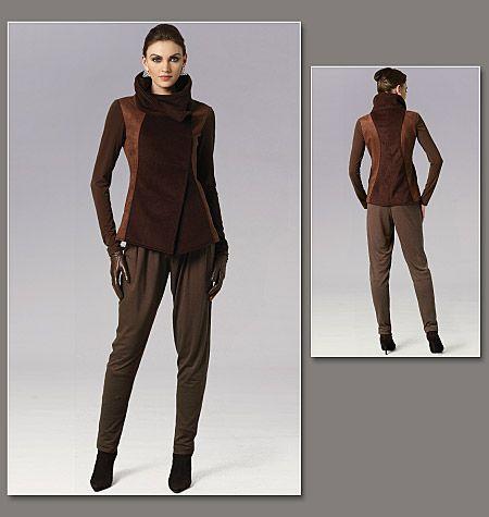 Patron de veste et pantalon - Vogue 8757