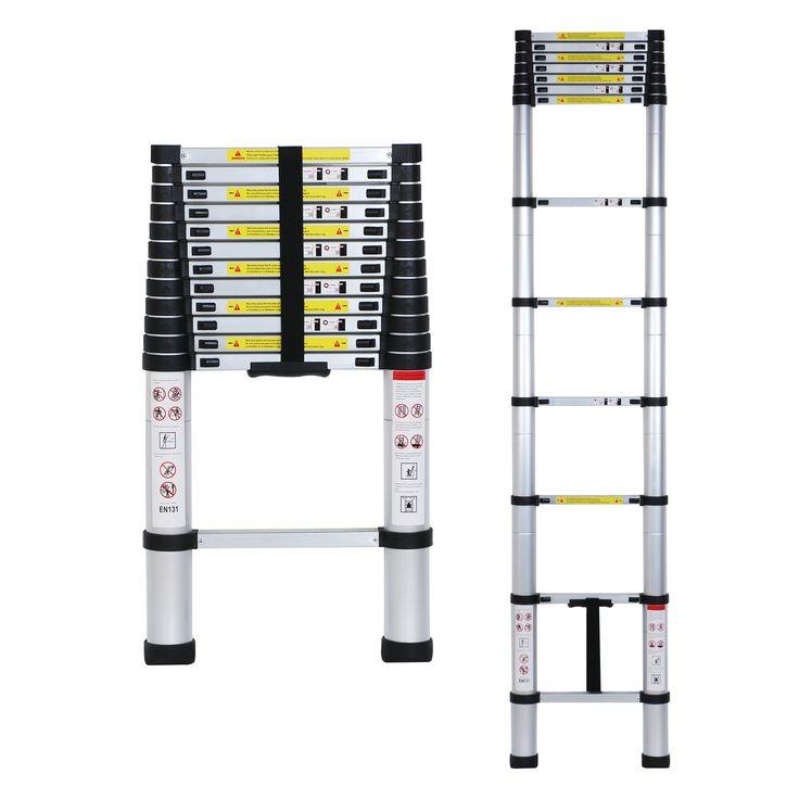 Lifewit 12.5ft EN131 Telescoping Ladders Aluminum Telescopic Extension Multi Purpose Ladder