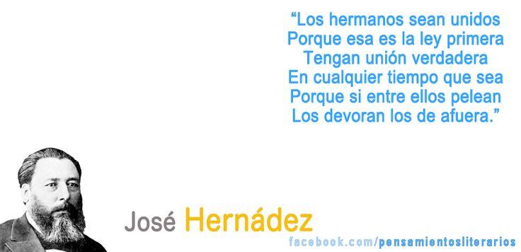 José Hernández. Sobre la fuerza de la unión.