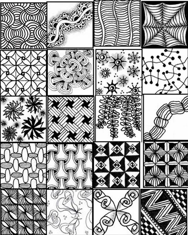 Ridiculous image throughout free printable zentangle worksheets