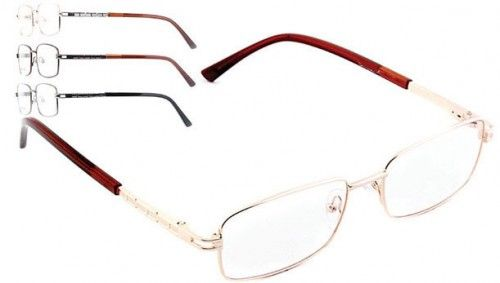 BROOKLYN DJD5444 - Full rim metal #frame front with detail on metal temples and spring hinges