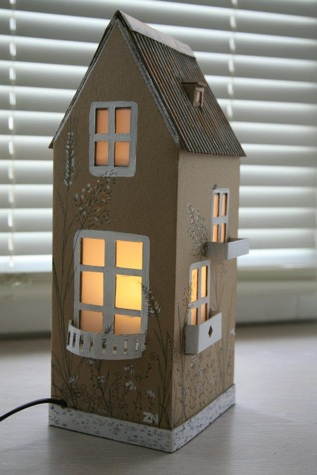 """Cardboard lamps 