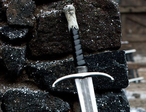 It is not my will to put aside my sword or to deliver Andúril to the hand of any other Man. ... Here I set it, but I command you not to touch it, nor to permit any other to lay hand on it. ... Death shall come to any man that draws Elendil's sword save Elendil's heir.