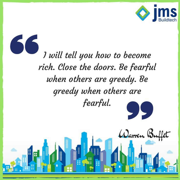 "To quote Warren Buffet, ""I will tell you how to become rich. Close the doors. Be fearful when others are greedy. Be greedy when others are fearful."" Now's the time to buy. In real estate and in life, it's almost always best to act opposite to the herd. #InvestinRealEstate #Quote"
