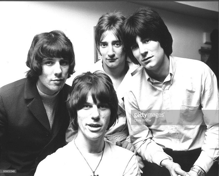 The Jeff Beck Group: Aynsley Dunbar, Jeff Beck, Rod Stewart and Ron Wood