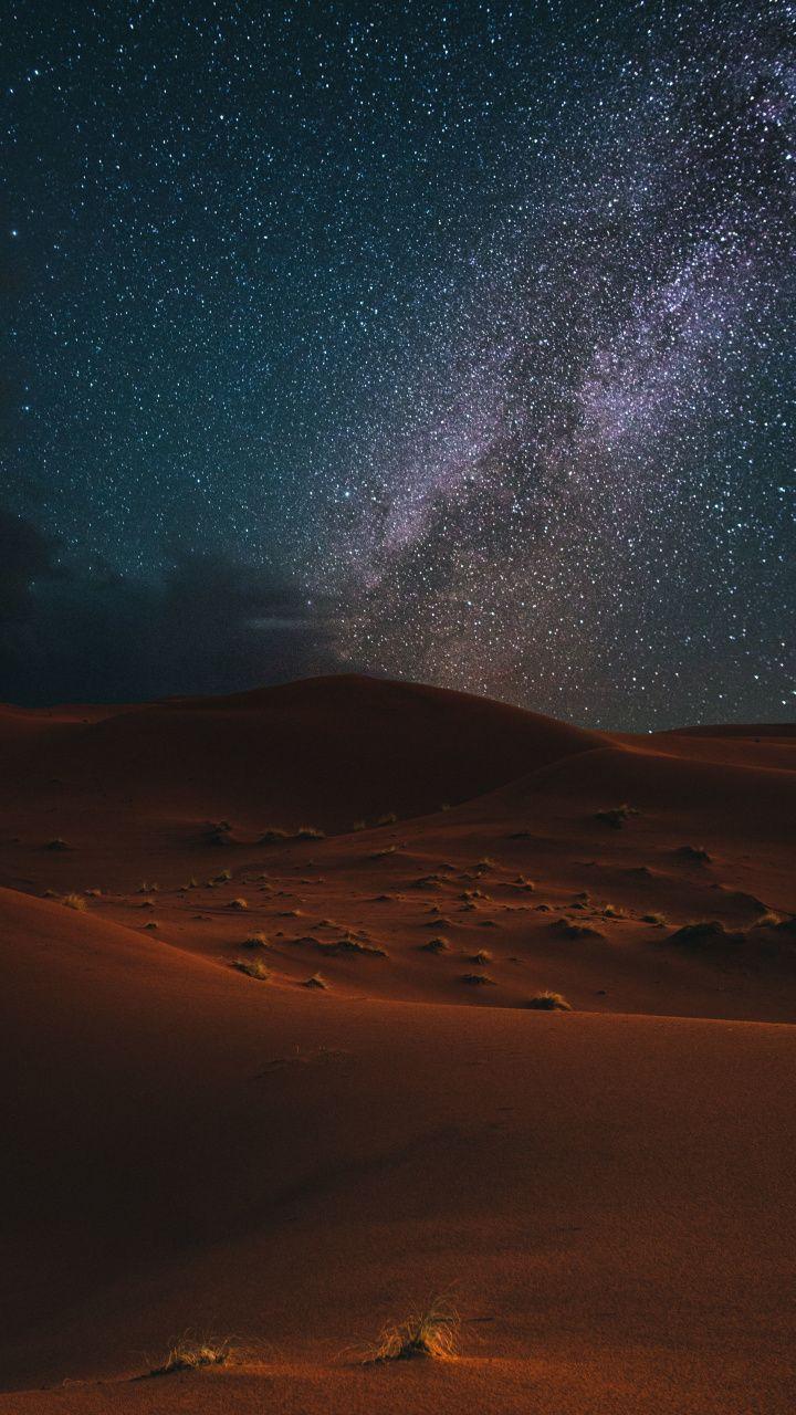 720x1280 Desert Night Milky Way Starry Sky Wallpaper Photography Wallpaper Nature Wallpaper Mountain Photography