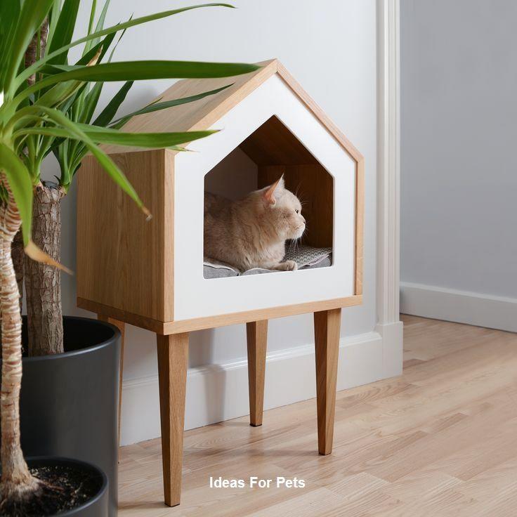 Diy Cat House Ideas In 2020 Cat House Diy Cat Houses Indoor Pet Furniture