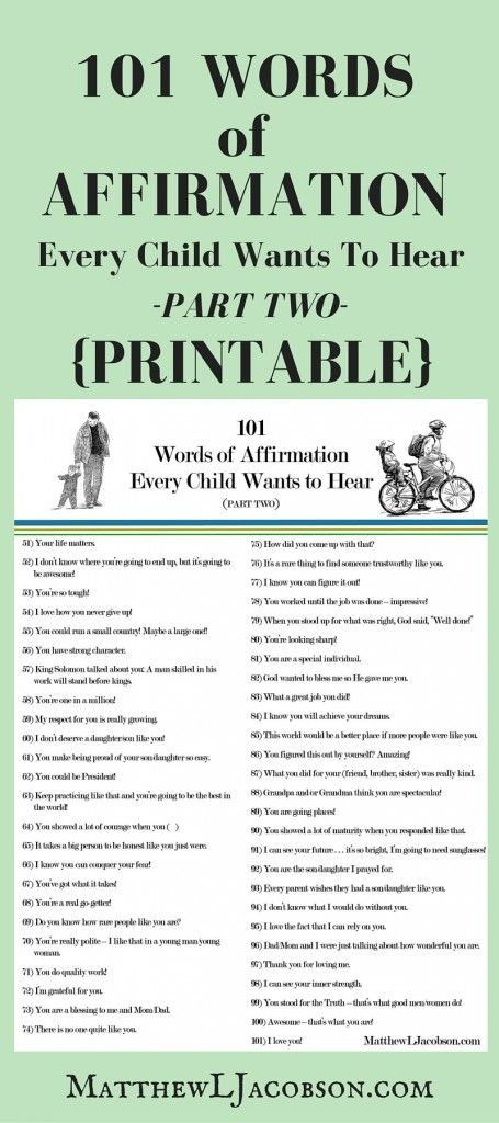 Change these to encouragement vs praise for greater impact. 101 Affirmations 4 Every Child