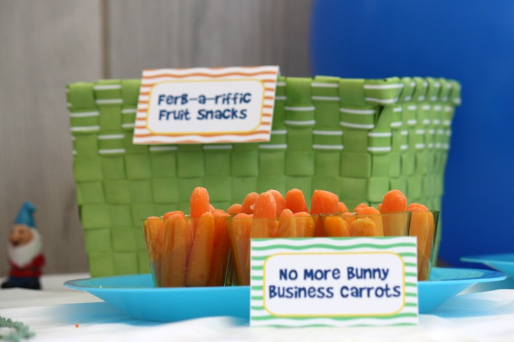 Phineas and Ferb party snacks