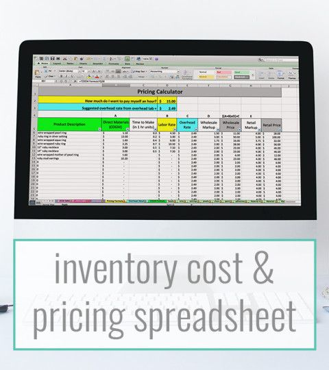 The 25+ best Inventory cost ideas on Pinterest Quick books - inventory spreadsheet template