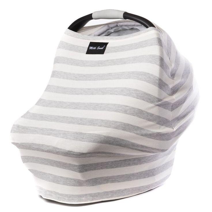Milk Snob   Grey & Cream Stripe Cover