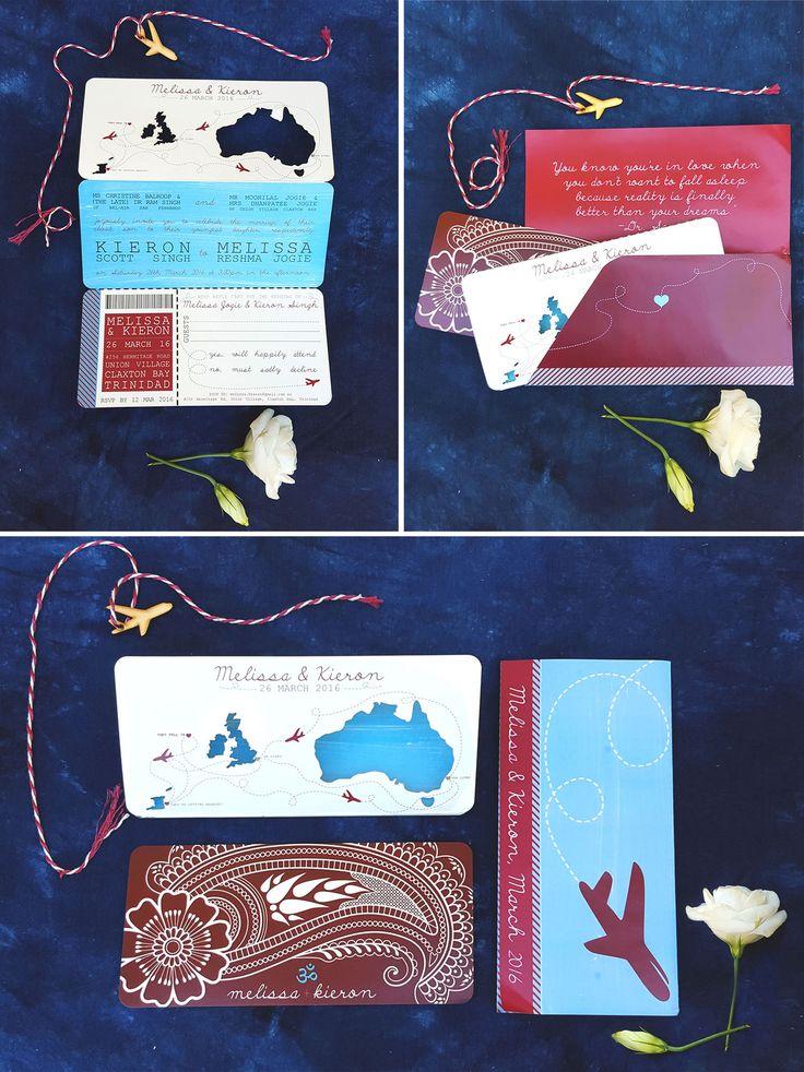 Wren & Rabbit Event Production: Melissa and Kieron's Wedding Invitation