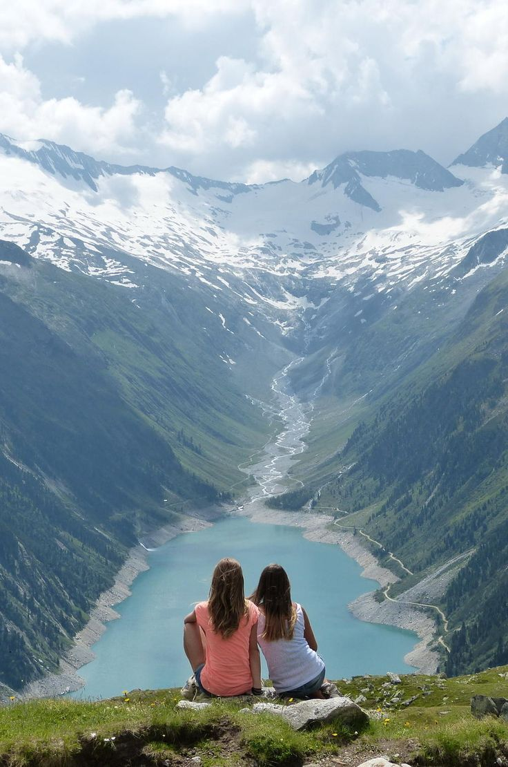 Looking out on Schlegeisspeicher Dam.  Hiking up to the Olpererhütte in Austria.    Get more travel inspiration for Austria at http://www.holidaystoeurope.com.au/home/resources/destination-articles/austria