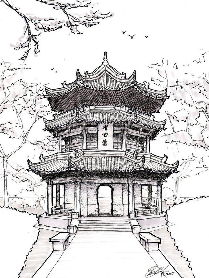 Pagoda Drawing | Chinese Pagoda by ~asuka47 on deviantART