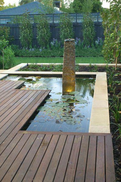 Pond and decking.  www.outdoorcreations.com.au
