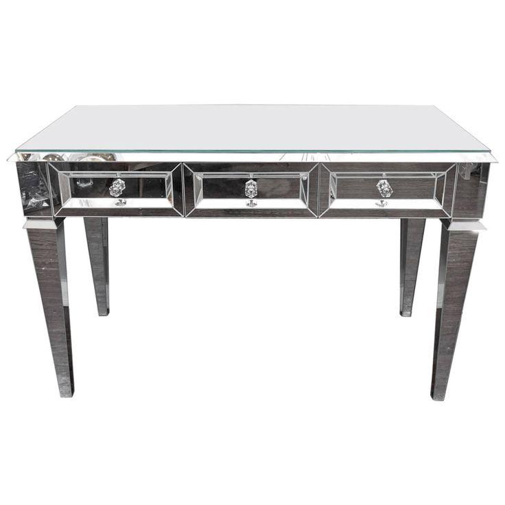 Custom Beveled Starphire Mirror Desk