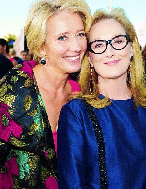 With Emma Thompson at the Critics Choice Movie Awards ~ January 2014