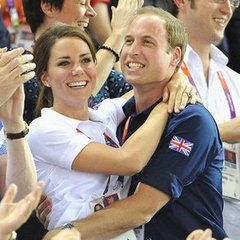 Kate Middleton and Prince William Hugging at Olympics
