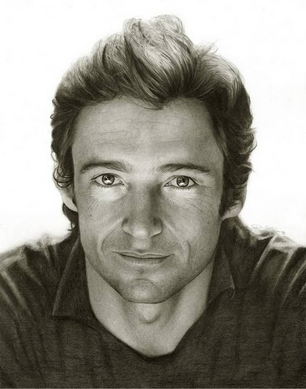 drawn by hand with a pencil, aaaamazing: Celebrity Art Illustrations, Randy Atwood, Amazing Pencil Drawings 18, Celebrity Pencil, Artists Inspiration, Hugh Jackman, Celebrity Portraits, Pencil Art, Pencil Portraits