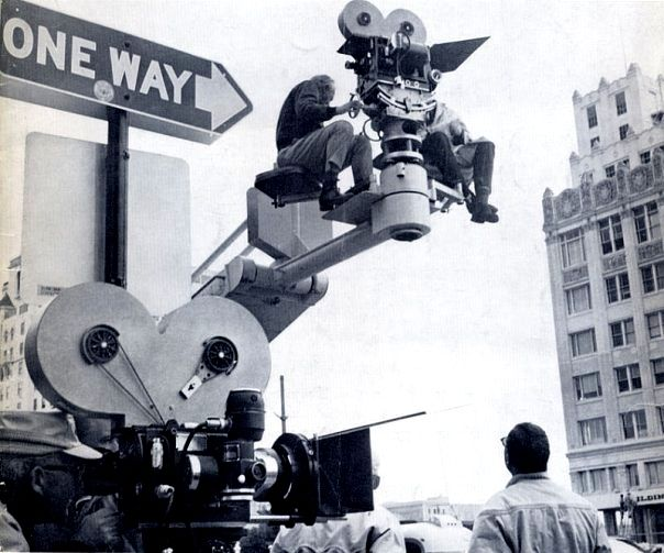 The Super-Panavision 65mm camera at work on It's a Mad, Mad, Mad, Mad World.