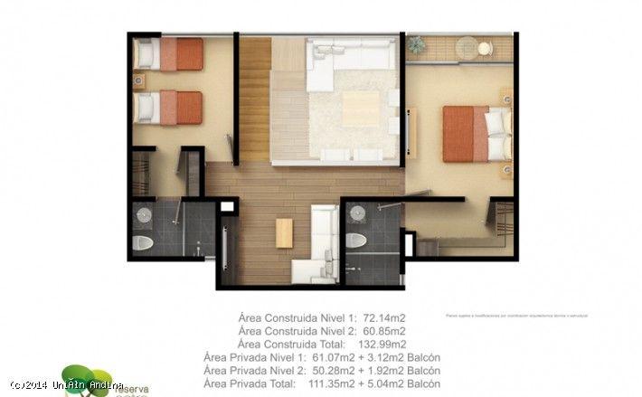 Departamentos nuevos en la Urbanización Entrecerdos #unionandina #bancolombia #plano #vivienda   Entre 1, 2 y 3 dormitorios, 2 baños y 1 aseo, salones sociales, Turco, Gimnasio, Squash, áreas verdes.