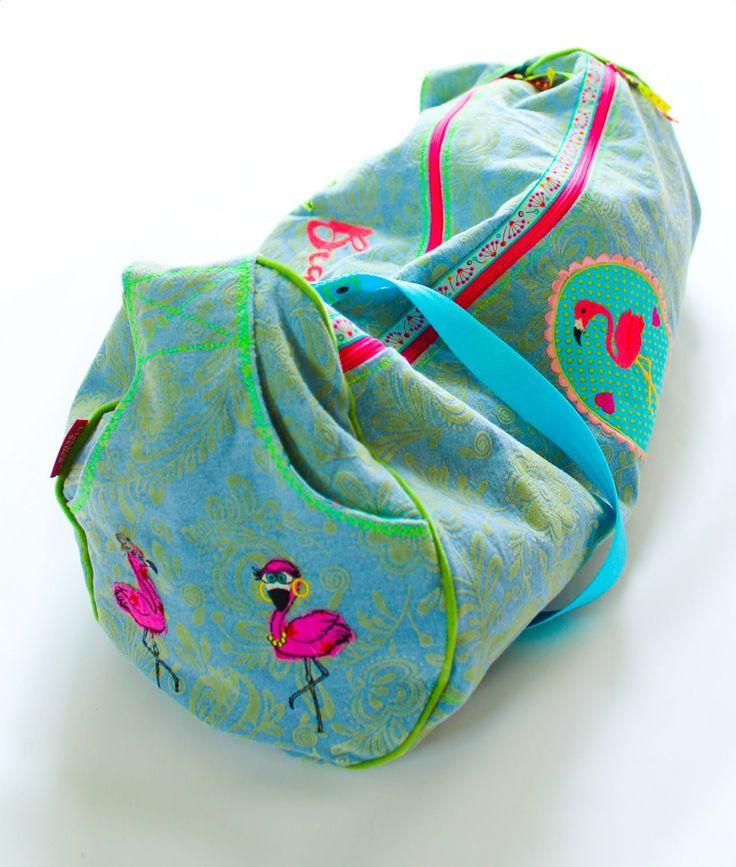 Liebhabestücke aus aniswelt: Flamingo Sommer | eine Beachtliche - Schnitt : Zylindertasche Taschenspieler 3 - verlängert.