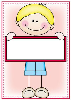 CLASSROOM LABELS  SIGNS - STICK KID CUTIES THEME - TeachersPayTeachers.com