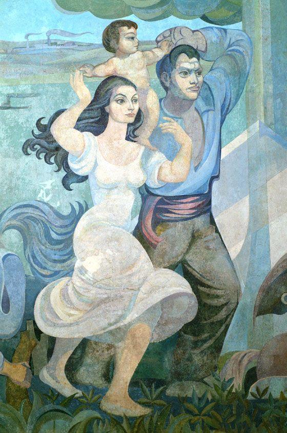 Detalle de Mural de Pedro Lobos.