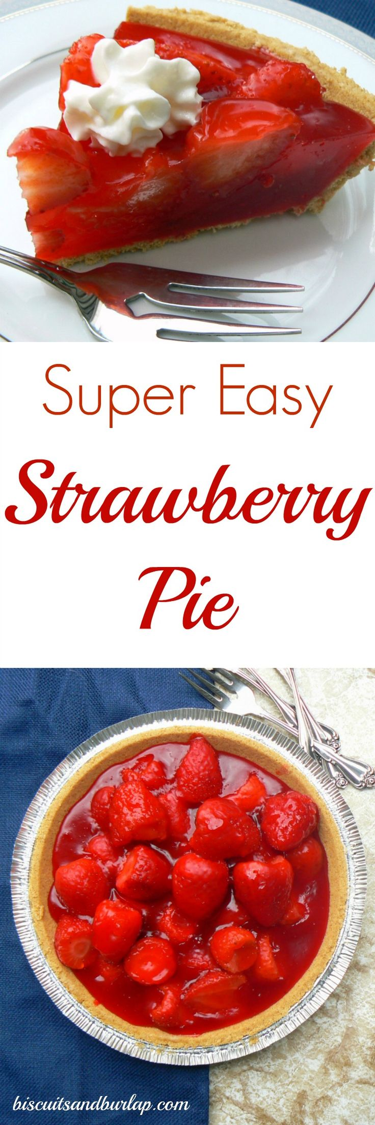 This no-bake strawberry pie would be the perfect dessert for Easter!