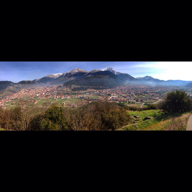 Panoramic view from Saint Dimitrios church in Karpenisi!!!