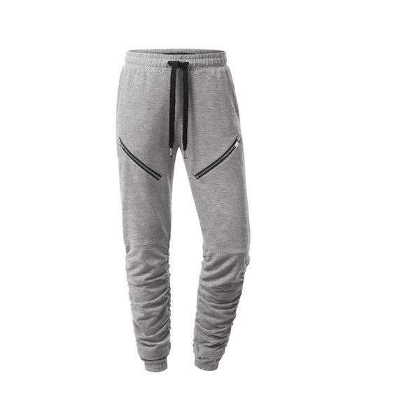 Pants ❤ liked on Polyvore featuring pants, jogger pants, denim pants, denim trousers, jogger trousers and denim jogger pants