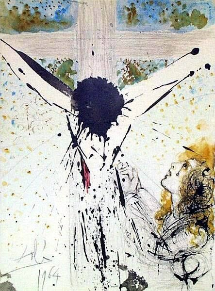 Tolle, tolle, crucifige eum (John 19:15) - Salvador Dalí, biblical lithograph. Dali's friend and patron, Giuseppe Albaretto, commissioned the artist to create one hundred and five lithographs to illustrate the Bible. Six years were spent, from 1963 - 1969, in creating the lithographs, which were edited and printed by Rizzoli Editions. Each image quite clearly can stand alone as an individual work of art by Salvador Dali.