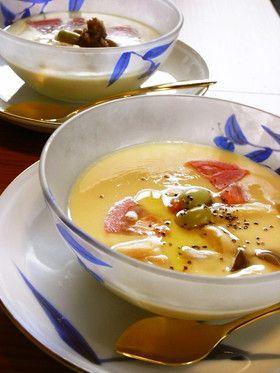 トマトと枝豆の冷たい茶碗蒸し