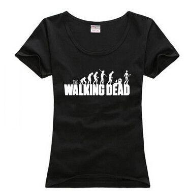 The Walking Dead American fashion t-shirt women summer dress girls short sleeve camiseta feminina free shipping //Price: $11.70 & FREE Shipping //     #twd