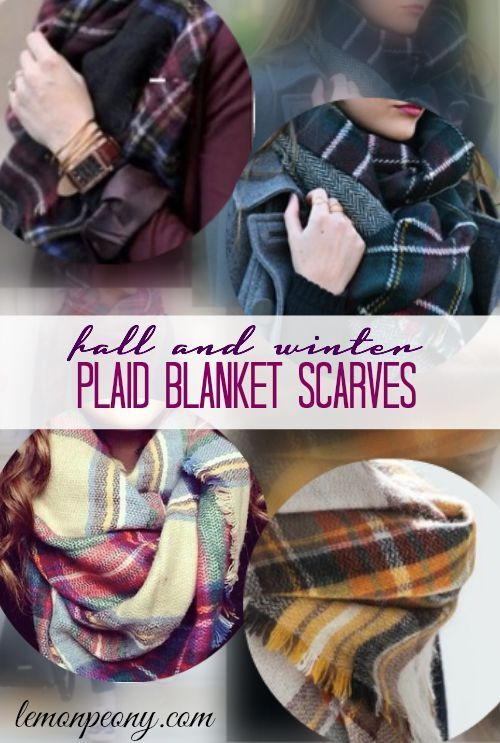 Plaid Blanket Scarves! Where to buy cheap and fashionable Fashion Scarves for Fall and Winter!
