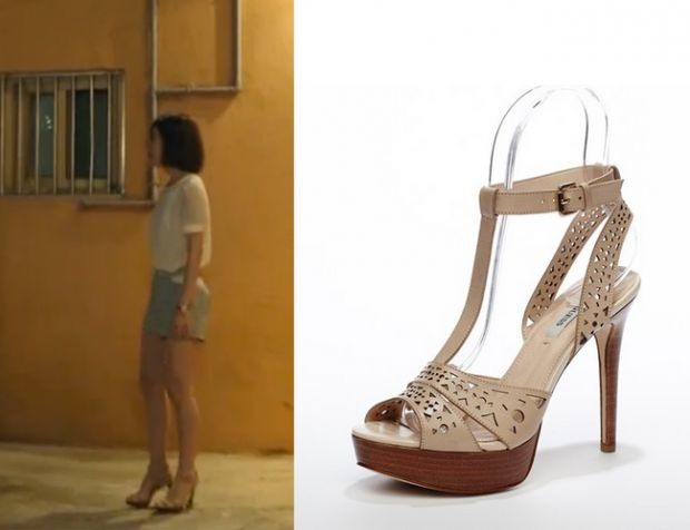 "Jin Se Yeon in ""Doctor Stranger"" Episode 13.   Guess Platform Sandals #Kdrama…"